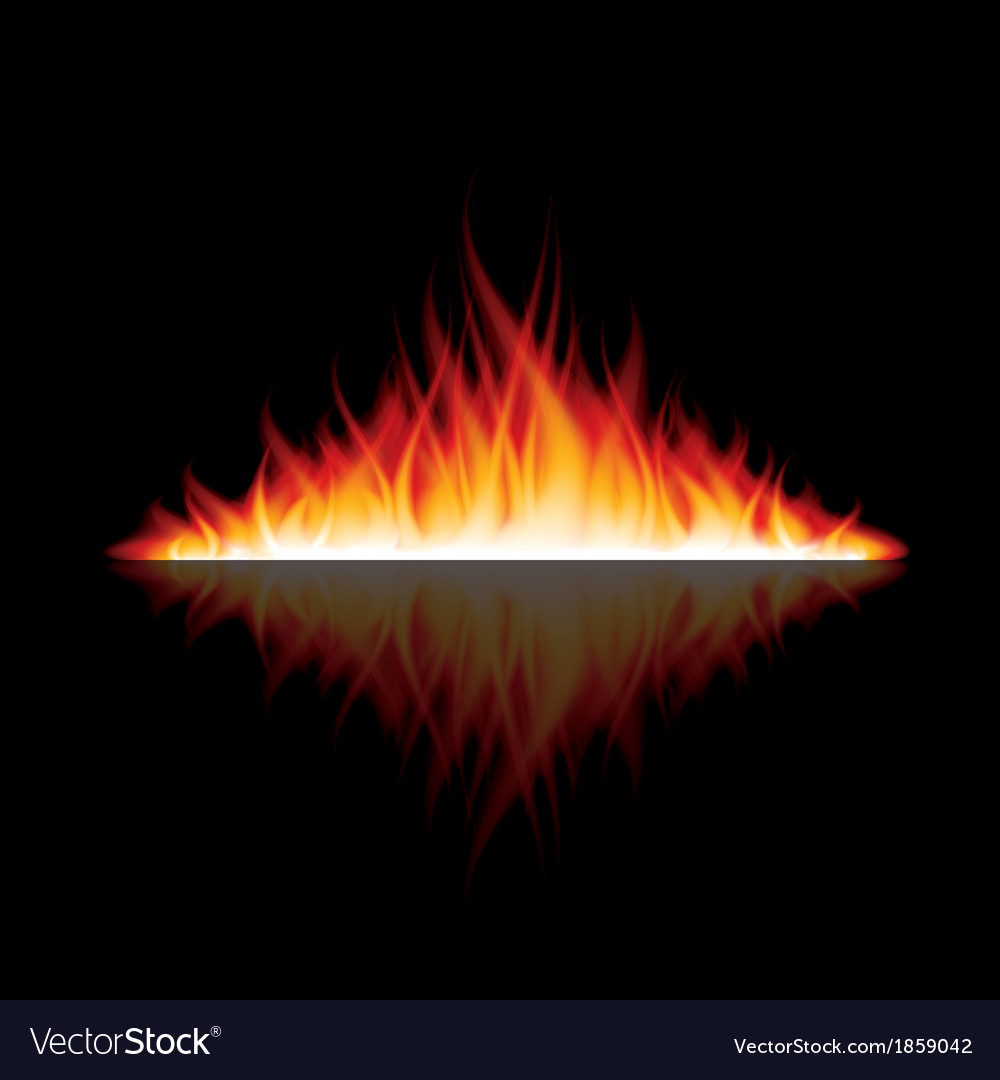 Object fire reflection vector | Price: 1 Credit (USD $1)