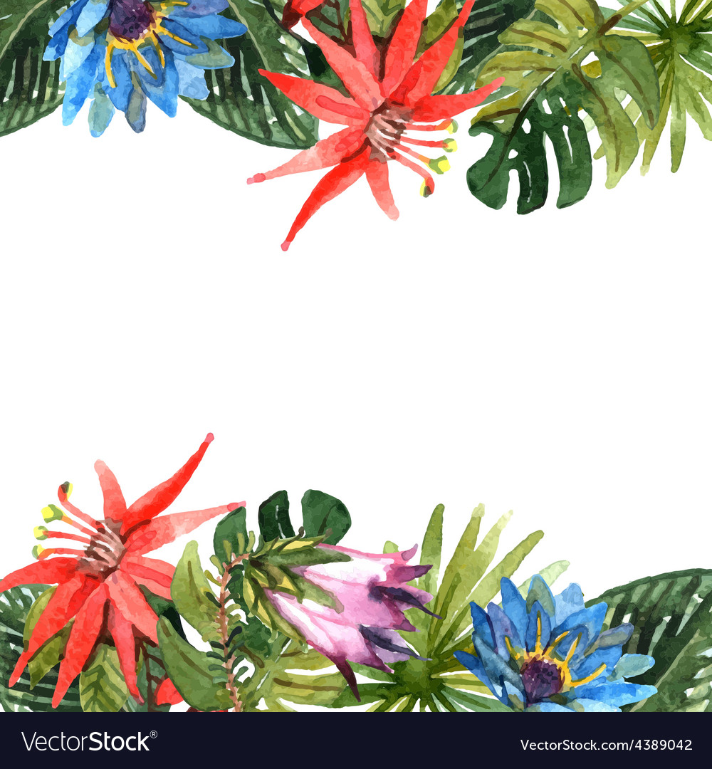 Tropical leaves vector | Price: 1 Credit (USD $1)