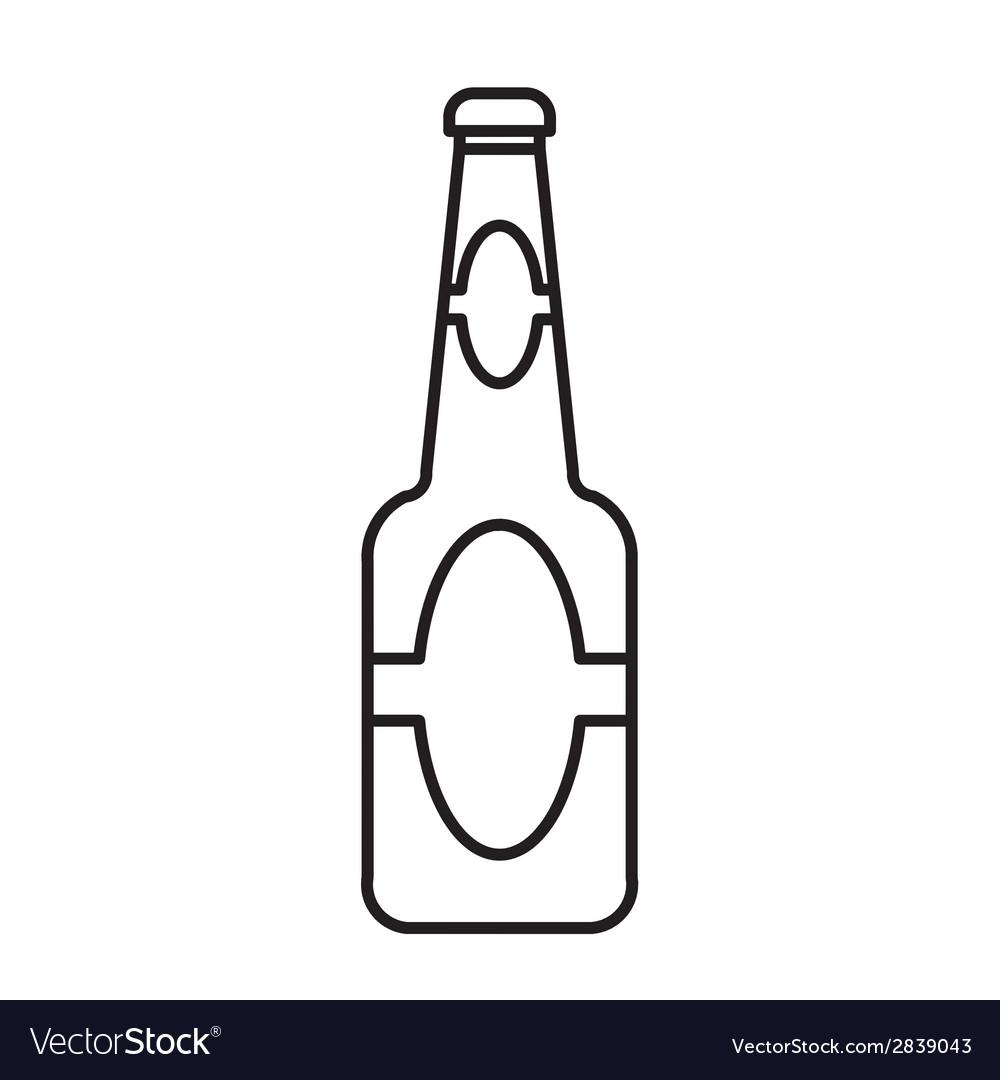 Beer bottle outline vector | Price: 1 Credit (USD $1)