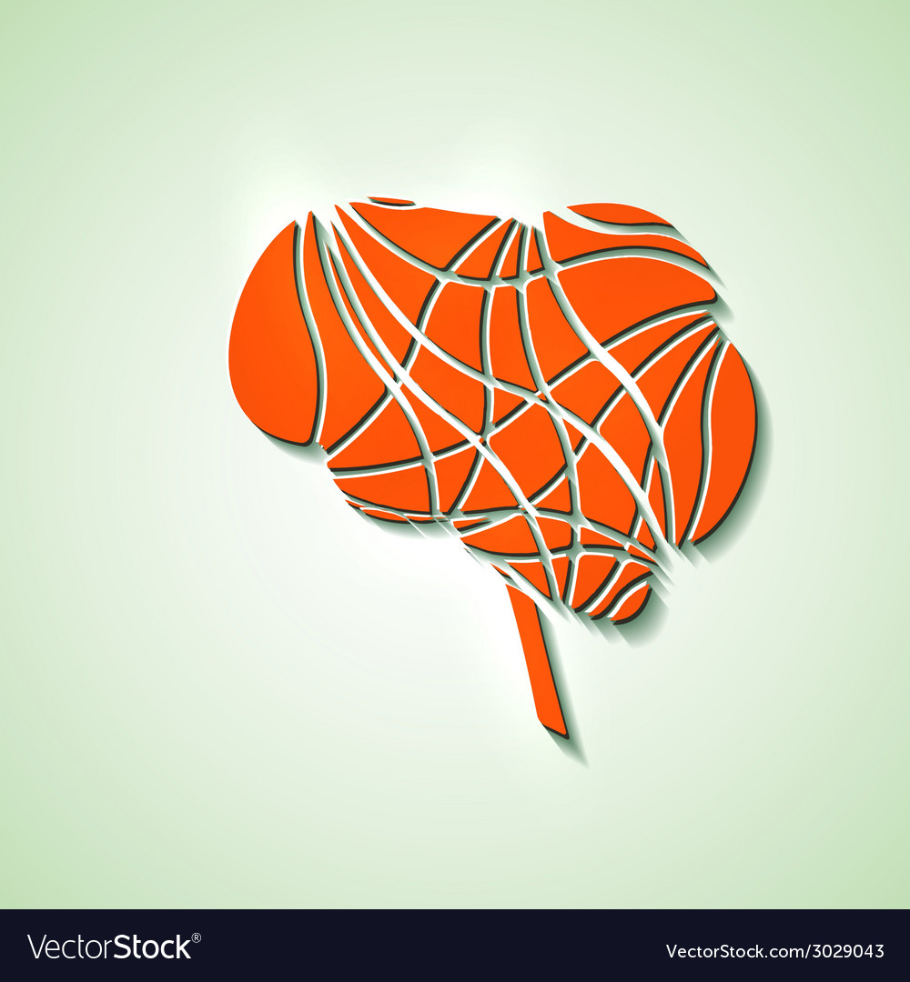 Creative brain vector | Price: 1 Credit (USD $1)