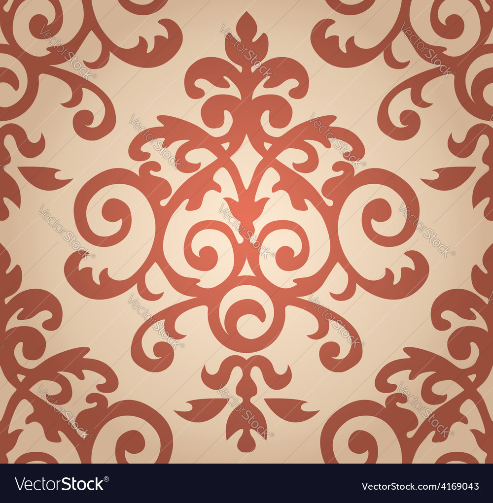 Damask floral pattern the wallpaper in baroque vector   Price: 1 Credit (USD $1)