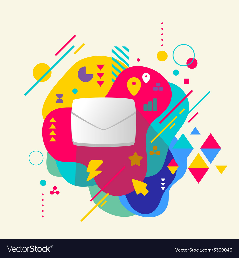 Envelope on abstract colorful spotted background vector   Price: 3 Credit (USD $3)