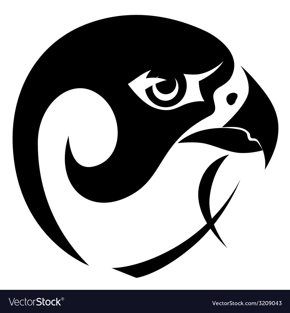 Falcon head symbol vector | Price: 1 Credit (USD $1)