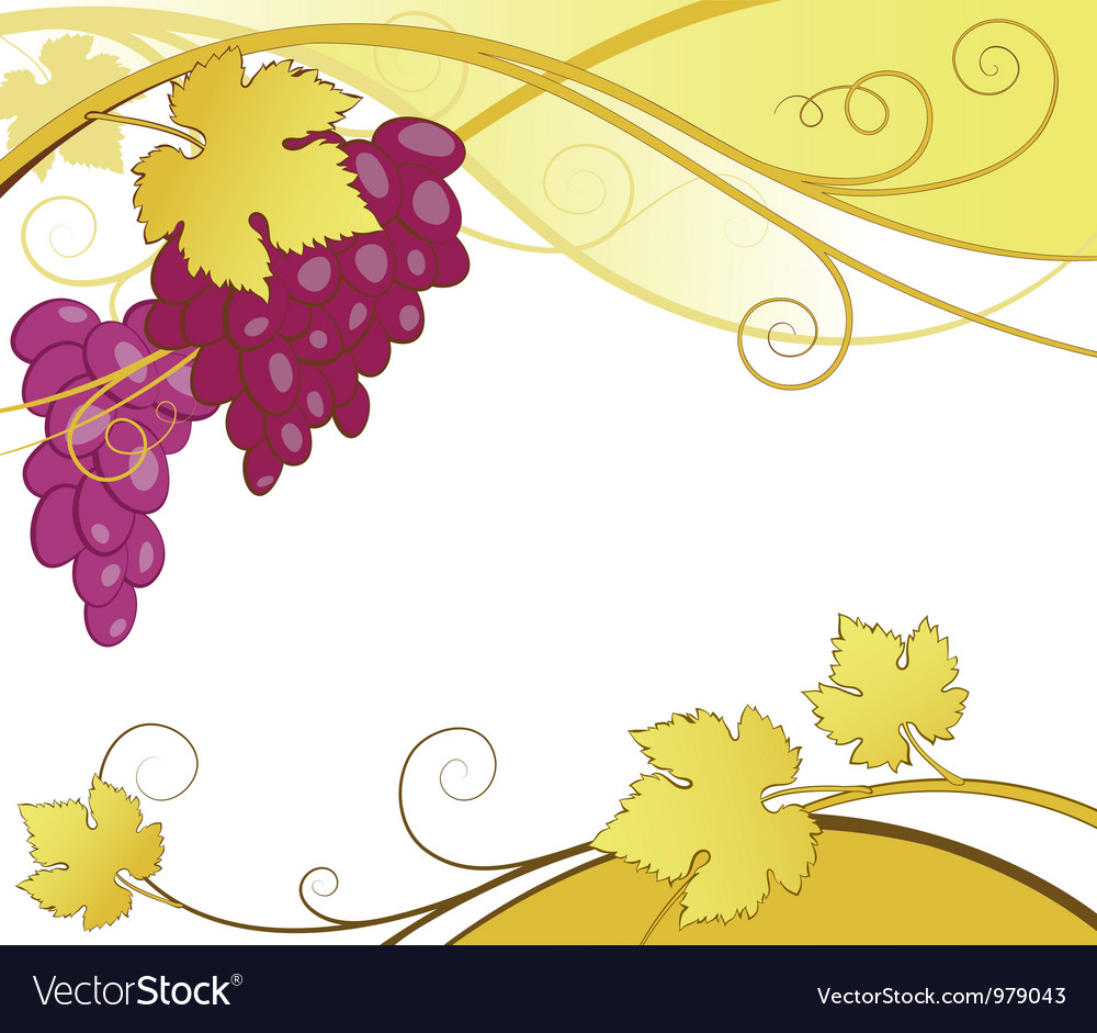 Grape vines abstract vector | Price: 1 Credit (USD $1)