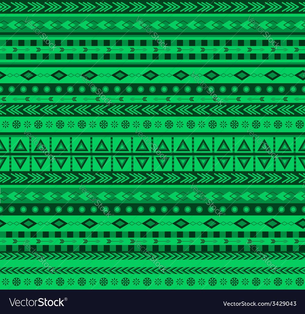 Green aztec pattern vector | Price: 1 Credit (USD $1)