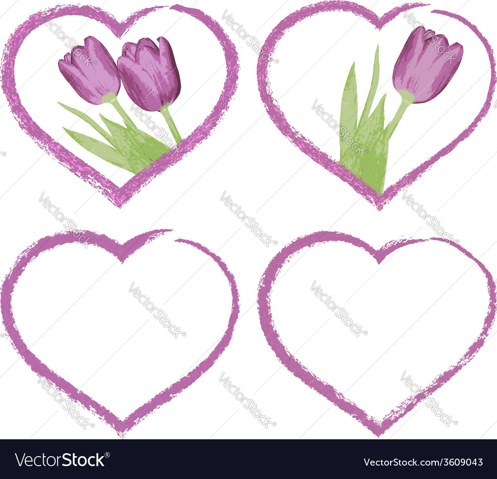 Grunge hearts for valentines or for wedding day vector | Price: 1 Credit (USD $1)