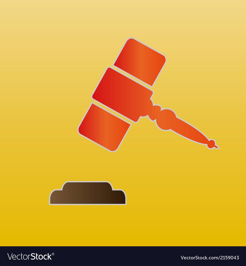 Hammer of judge vector   Price: 1 Credit (USD $1)