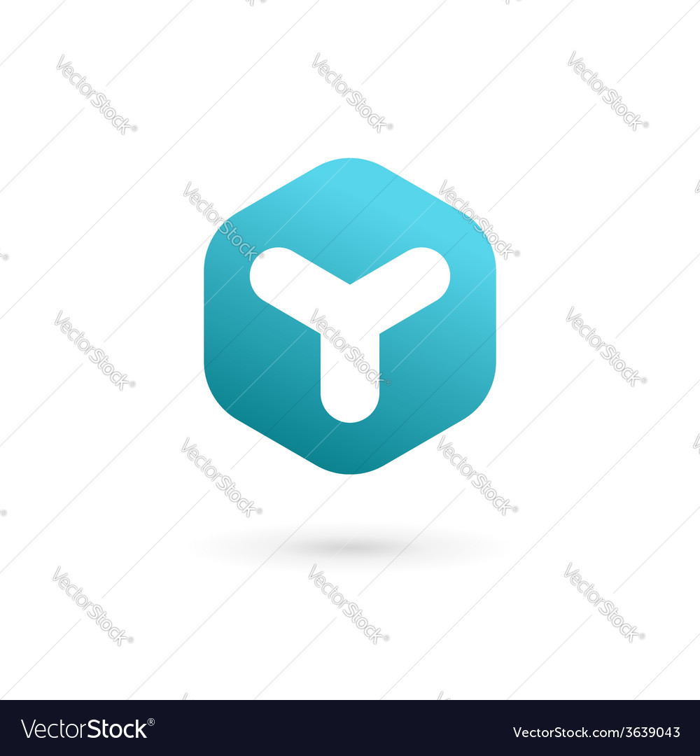 Letter y cube logo icon design template elements vector | Price: 1 Credit (USD $1)
