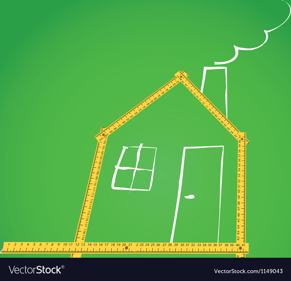 Meter house vector | Price: 1 Credit (USD $1)
