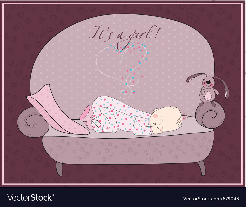 Newborn baby card vector | Price: 1 Credit (USD $1)