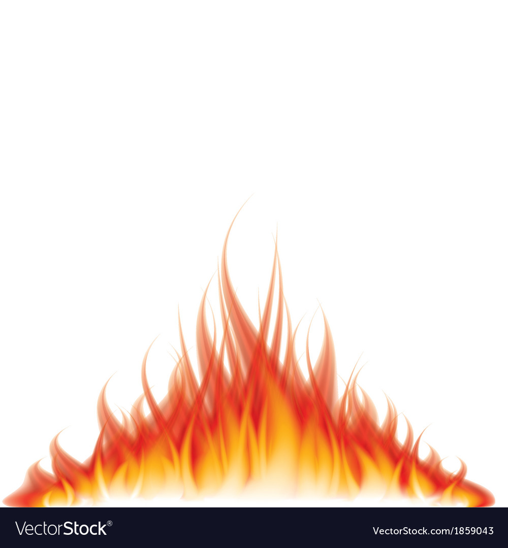 Object fire white vector | Price: 1 Credit (USD $1)