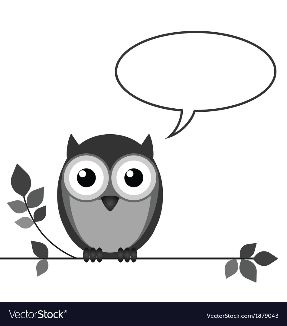 Owl talk vector | Price: 1 Credit (USD $1)