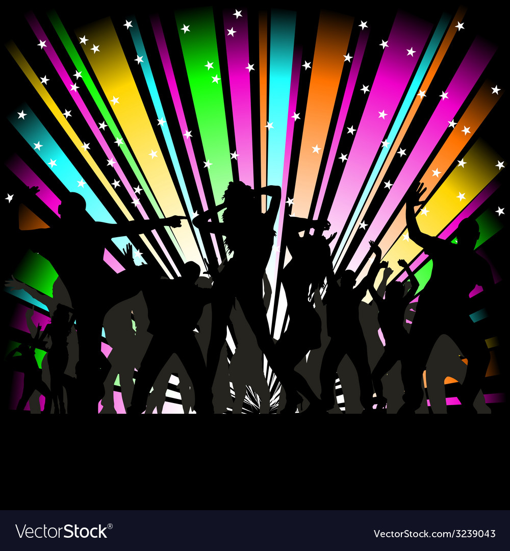 Party and disco people vector | Price: 1 Credit (USD $1)