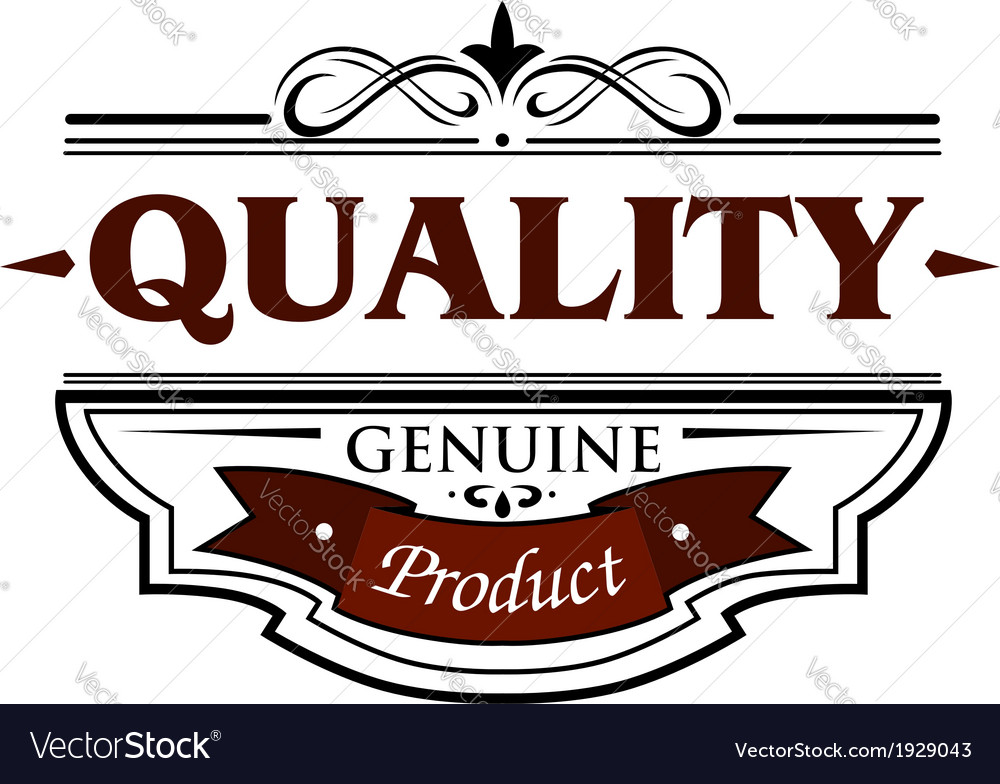 Quality genuine product banner vector | Price: 1 Credit (USD $1)