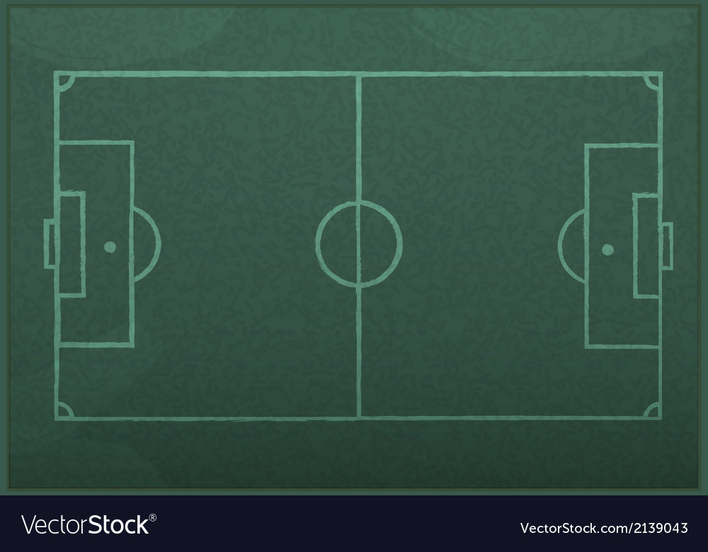 Realistic blackboard drawing a soccer game strateg vector   Price: 1 Credit (USD $1)