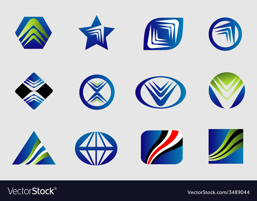Abstract business logo sign set vector | Price: 1 Credit (USD $1)