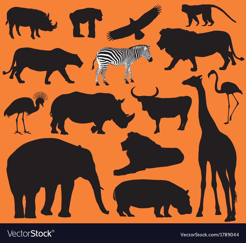 Animals silhouettes vector | Price: 1 Credit (USD $1)