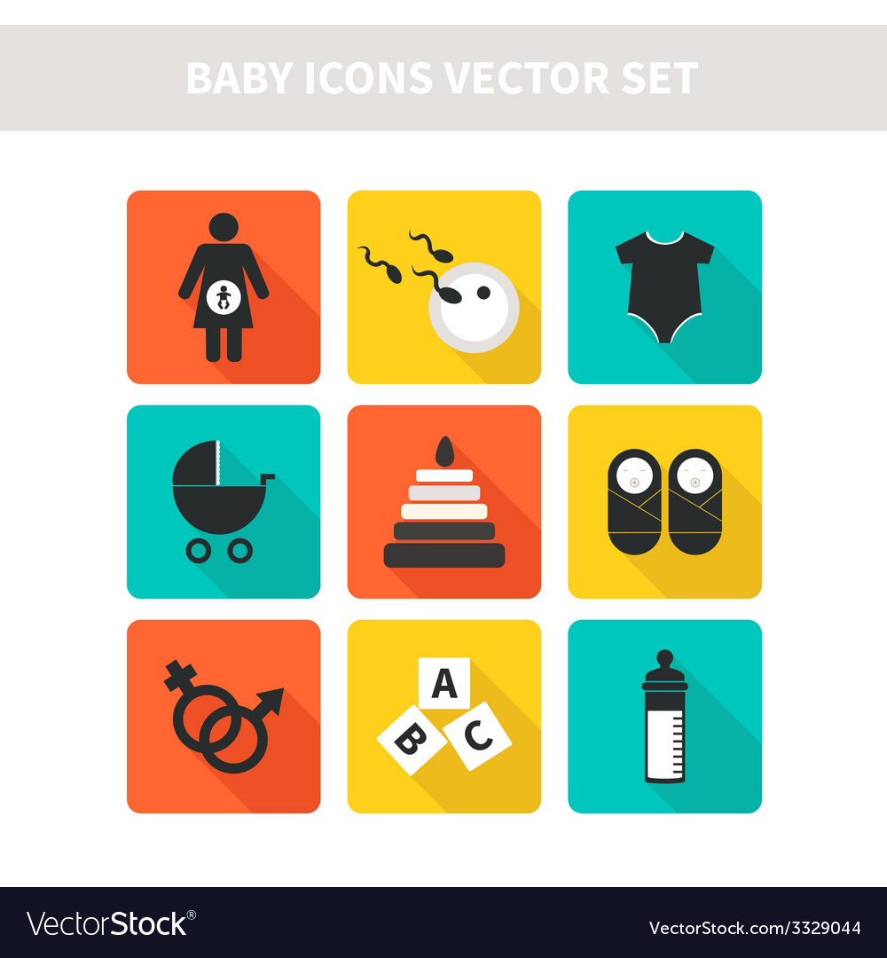 Baby icons vector | Price: 1 Credit (USD $1)