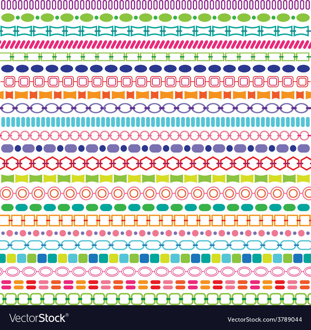 Border patterns vector | Price: 1 Credit (USD $1)