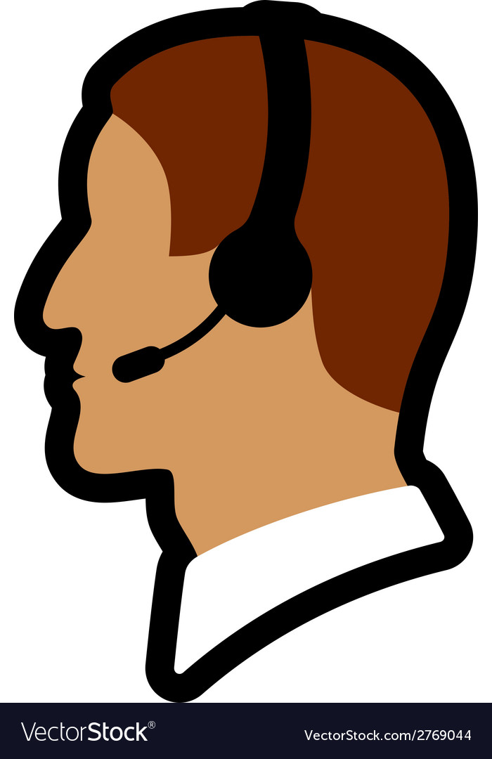 Call center person icon vector | Price: 1 Credit (USD $1)