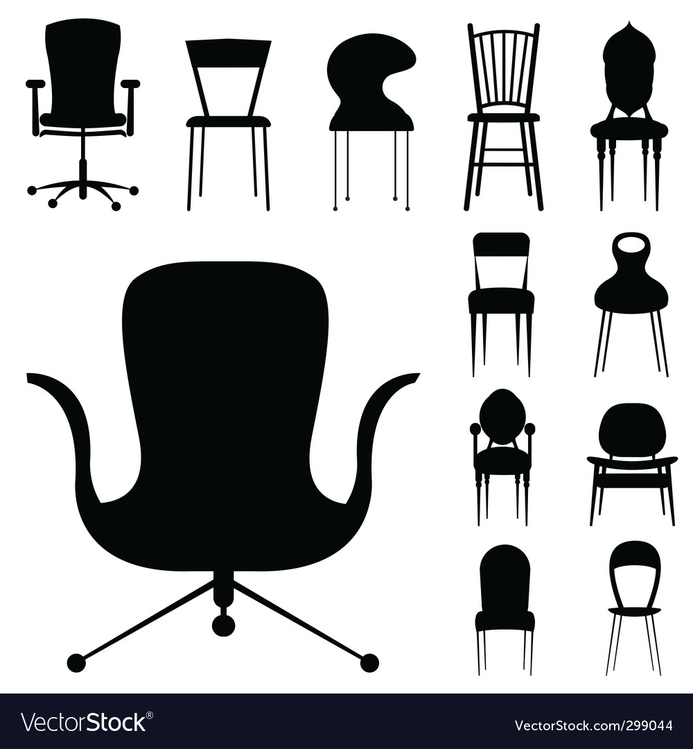 Chair design vector | Price: 1 Credit (USD $1)