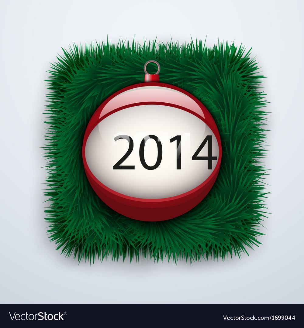 Christmas ball with the date new year 2014 vector | Price: 1 Credit (USD $1)