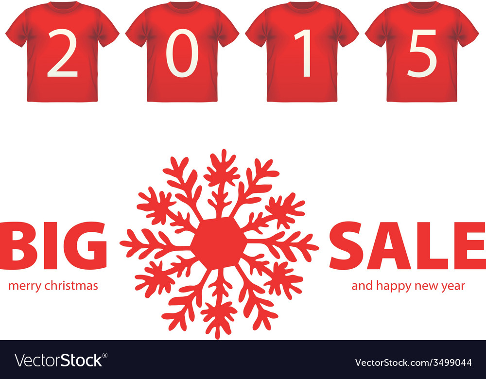 Christmas big sale red icon with snowflake symbol vector | Price: 1 Credit (USD $1)