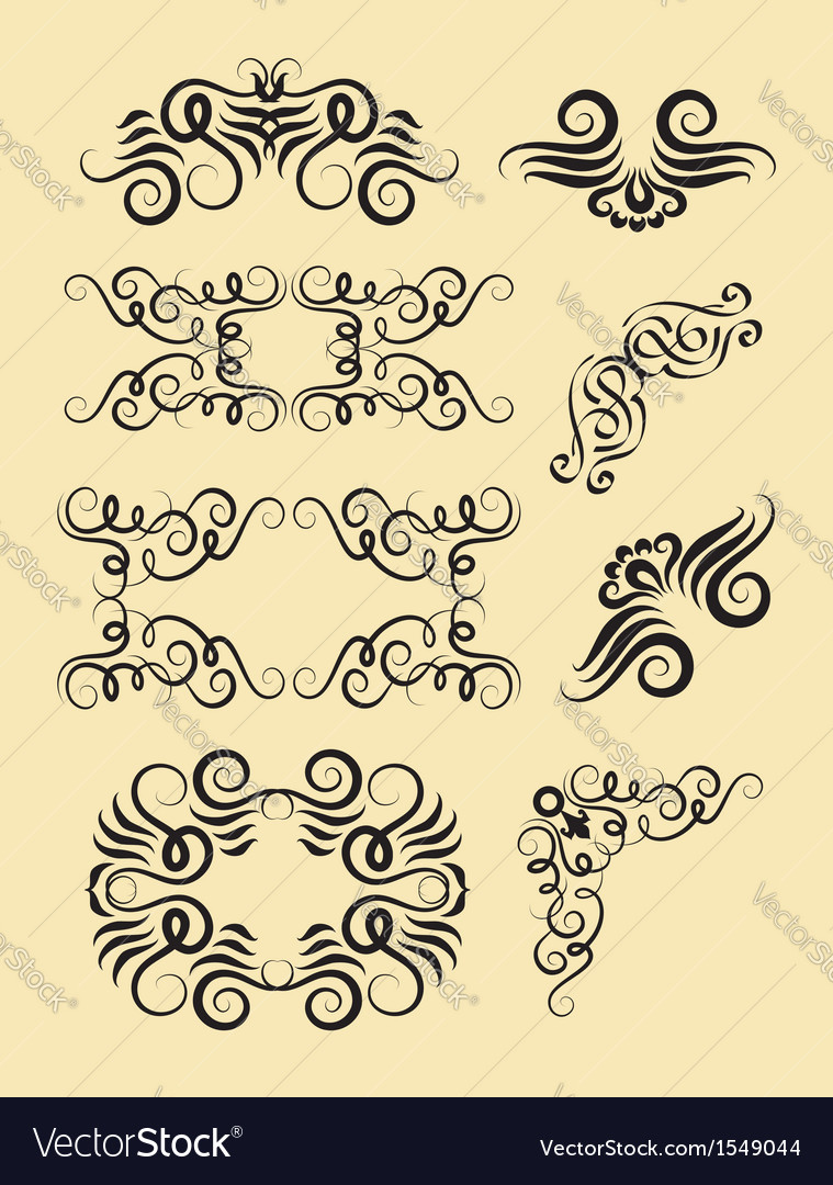 Corner decorations vector | Price: 1 Credit (USD $1)