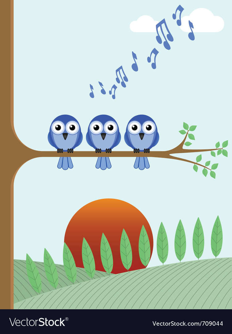 Dawn chorus vector | Price: 1 Credit (USD $1)
