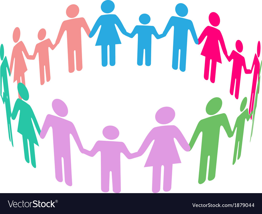 Family diversity social community people vector | Price: 1 Credit (USD $1)