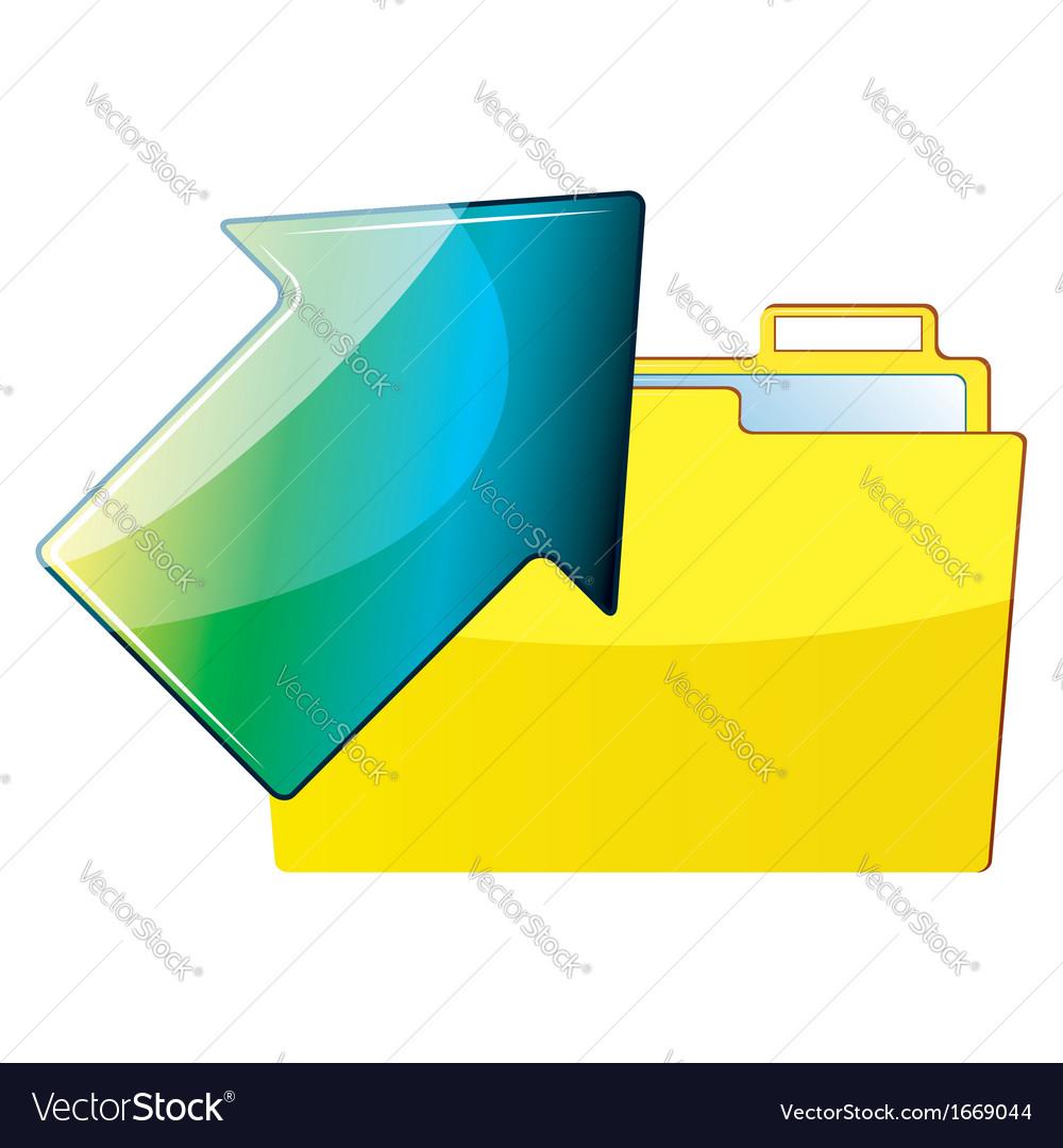 Folder and arrow vector