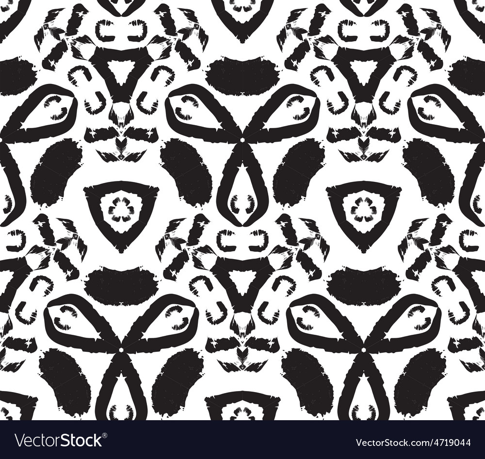 Hand drawn painted seamless pattern vector | Price: 1 Credit (USD $1)