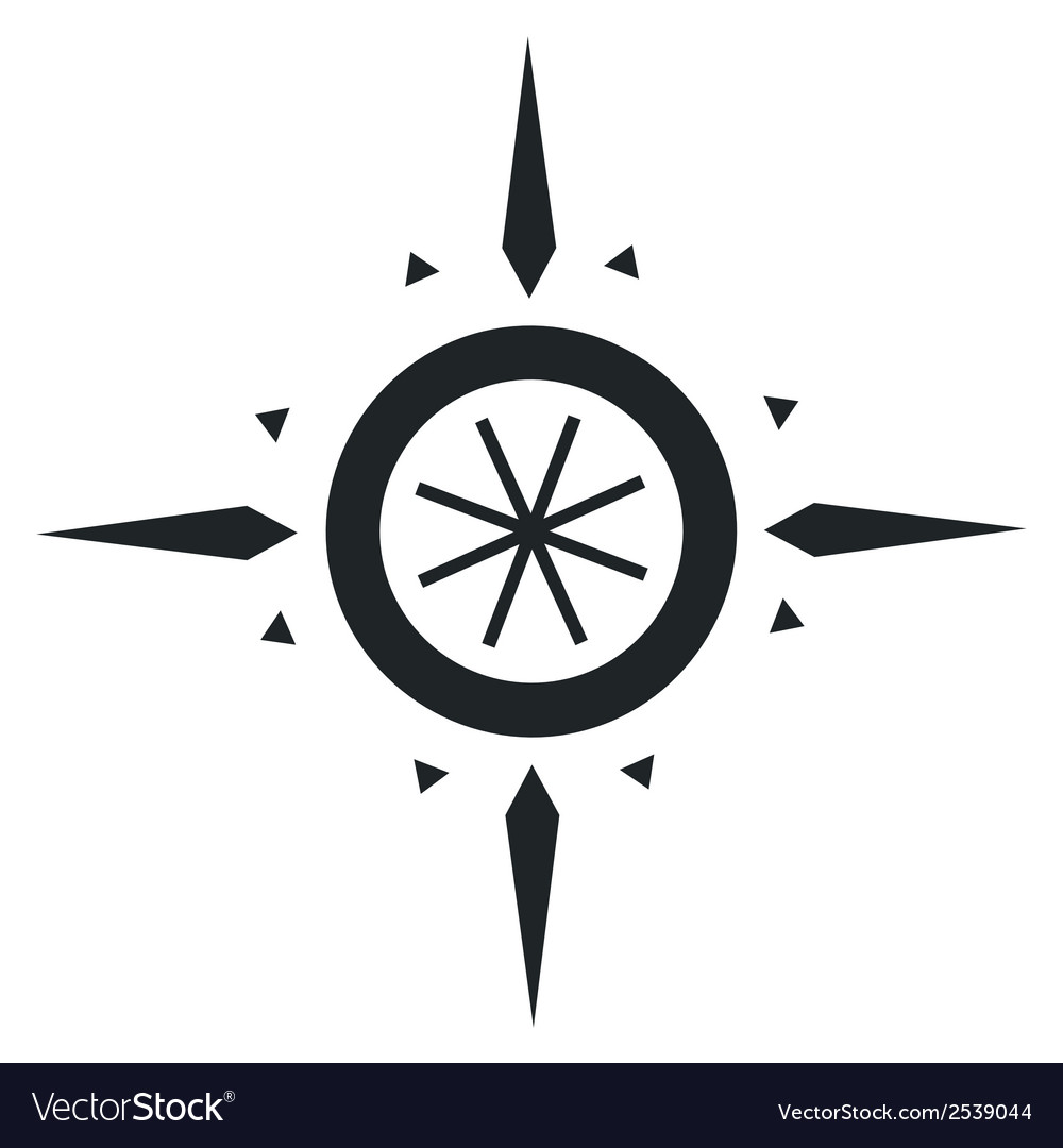 Navigation wind rose vector | Price: 1 Credit (USD $1)