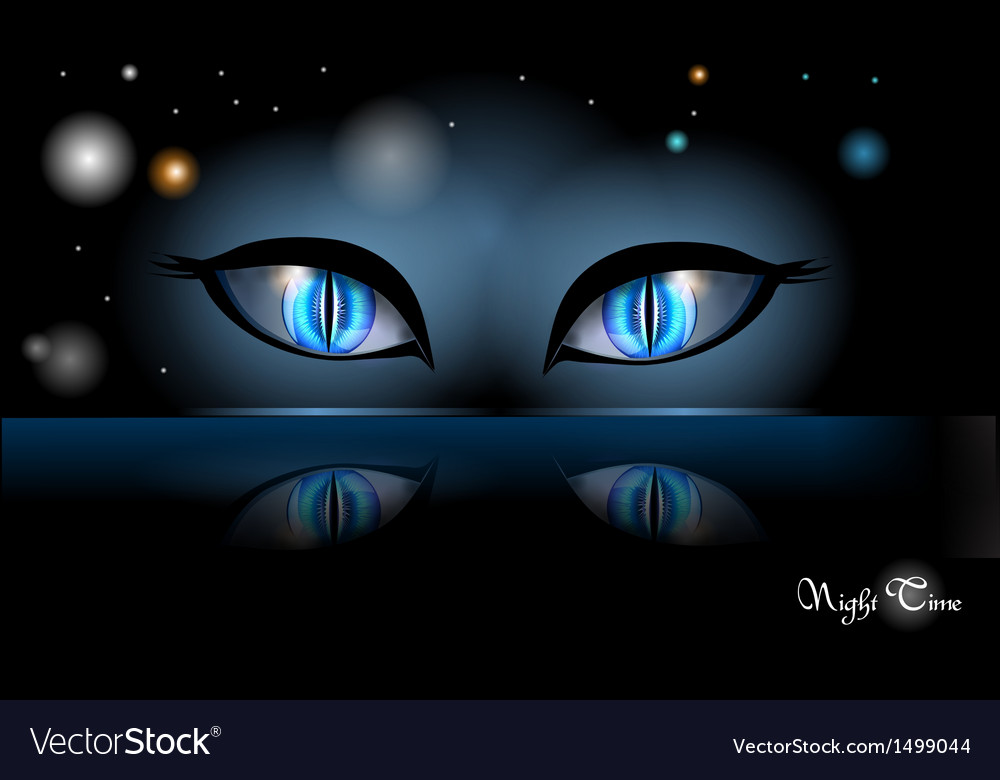 Night halloween eyes vector | Price: 1 Credit (USD $1)