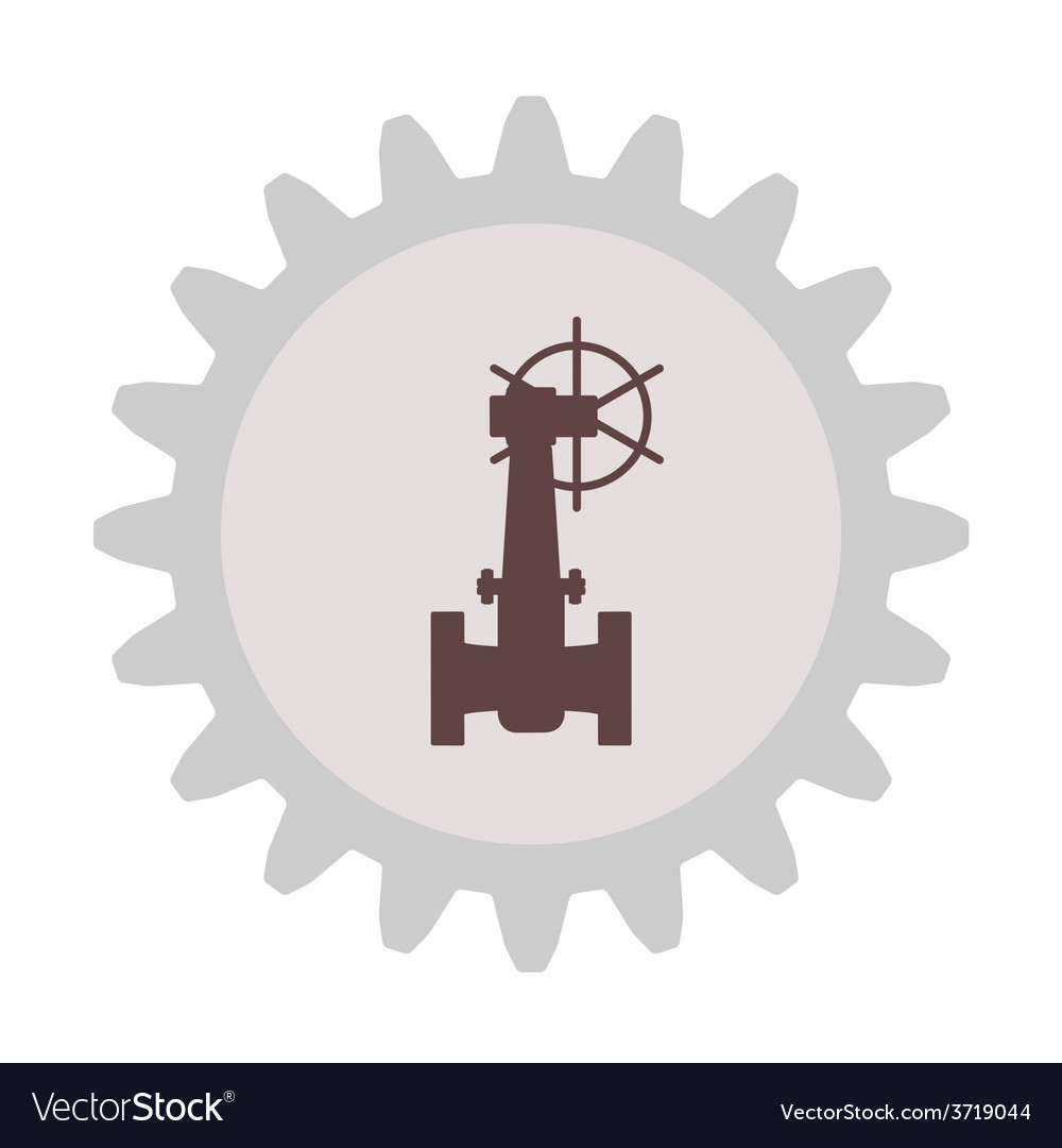 Silhouette of the valve gear vector | Price: 1 Credit (USD $1)