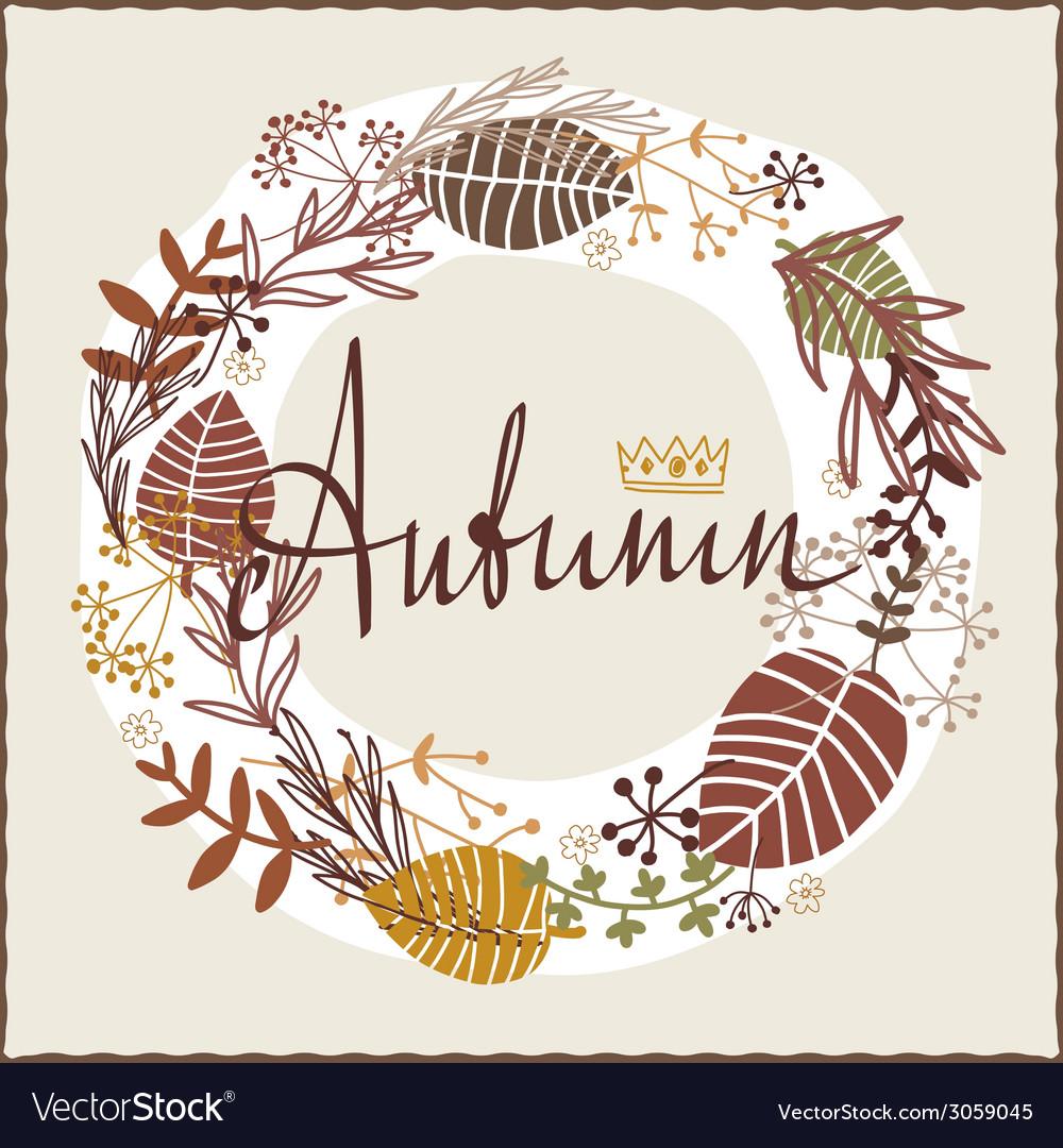 Autumn floral design vector | Price: 1 Credit (USD $1)
