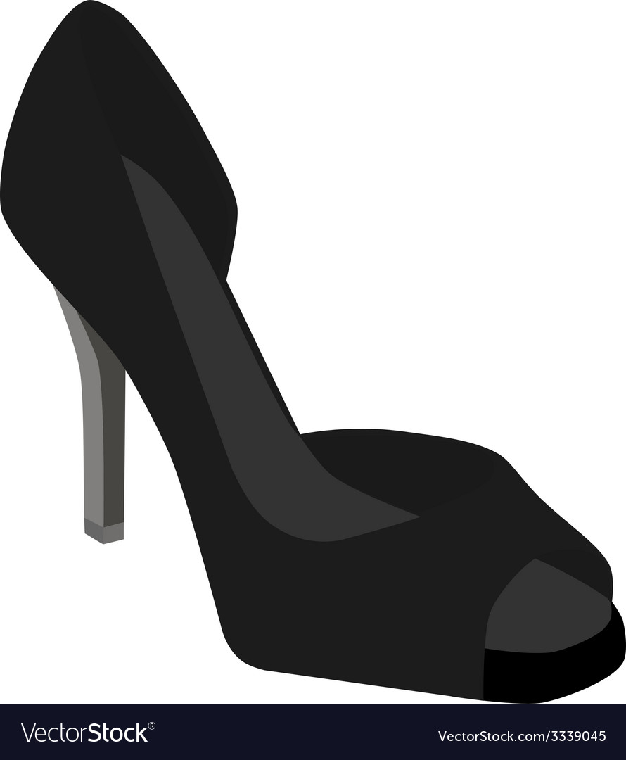 Black woman shoes vector | Price: 1 Credit (USD $1)