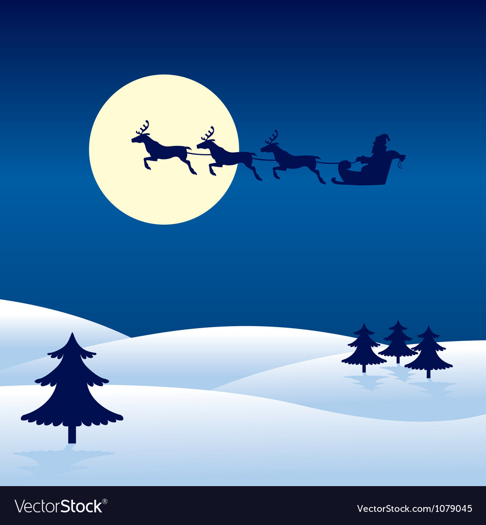 Christmas card with santa vector   Price: 1 Credit (USD $1)