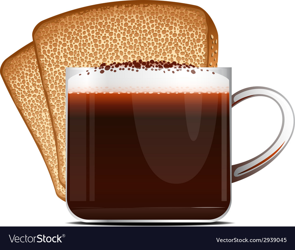 Coffee and toast vector | Price: 1 Credit (USD $1)