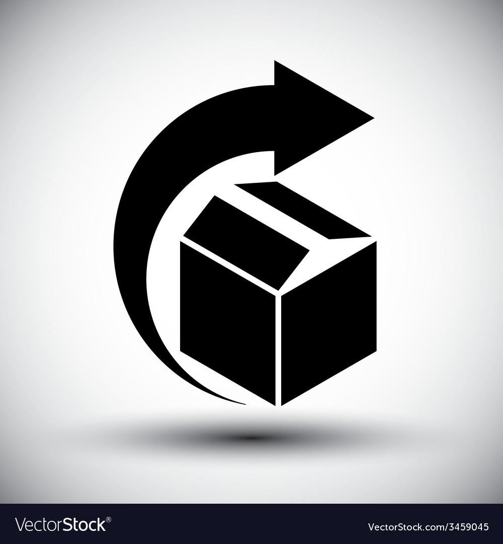 Gift delivery conceptual icon simple single color vector | Price: 1 Credit (USD $1)