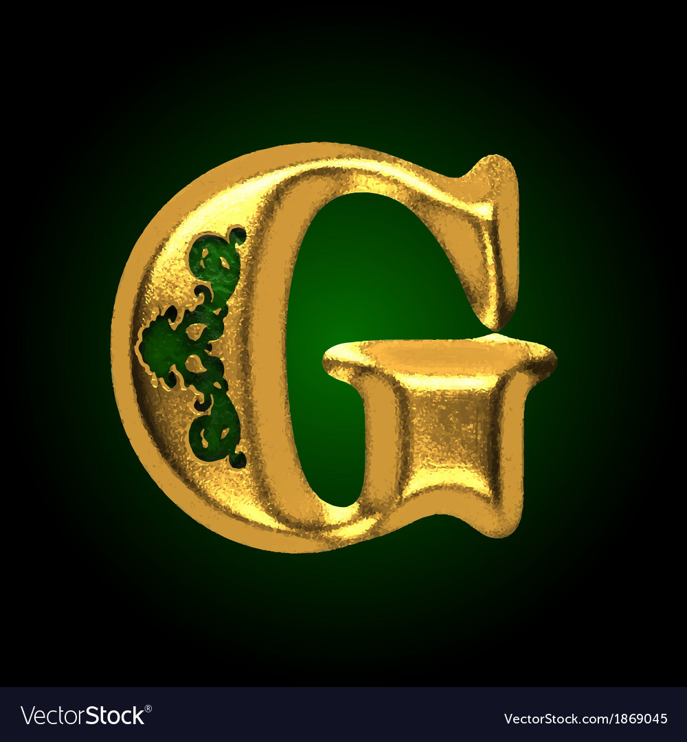 Golden letter g vector | Price: 1 Credit (USD $1)