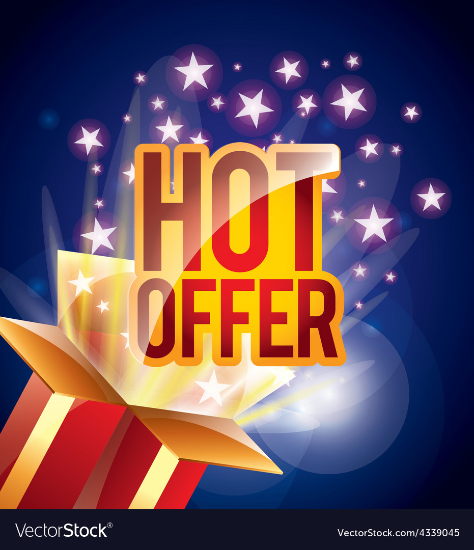 Hot offer vector | Price: 1 Credit (USD $1)