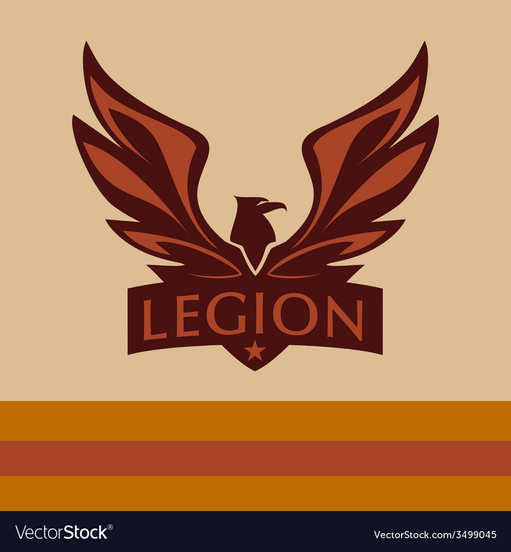 Logo with a picture of an eagle legion vector   Price: 1 Credit (USD $1)