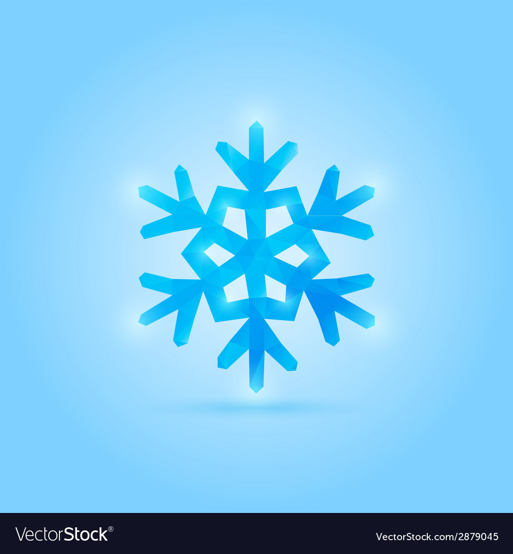 Poly snowflake vector | Price: 1 Credit (USD $1)