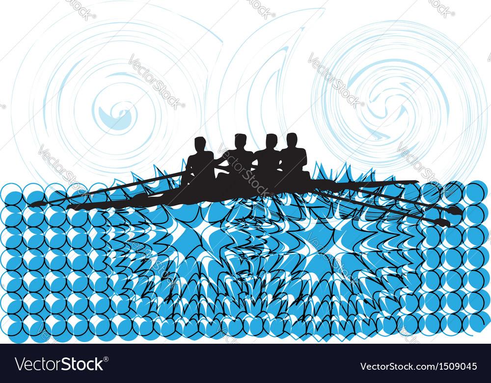Rowing vector | Price: 1 Credit (USD $1)