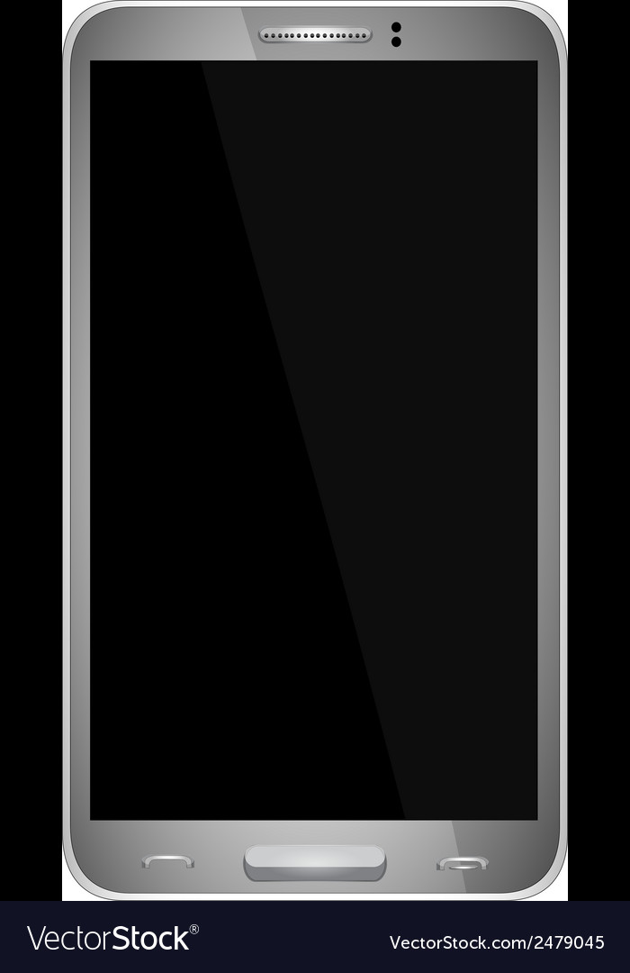 Smart phone with blank screen isolated vector | Price: 1 Credit (USD $1)