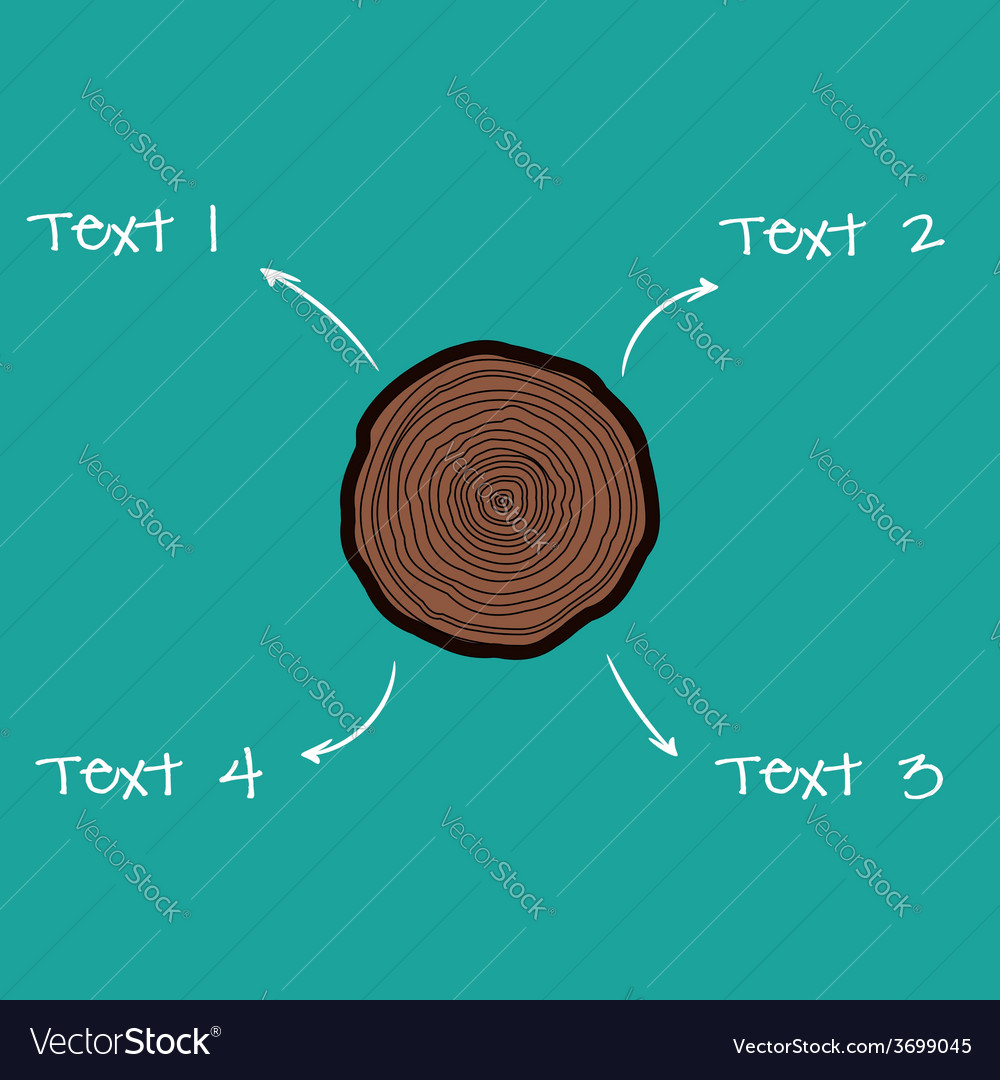 Tree rings scheme vector | Price: 1 Credit (USD $1)