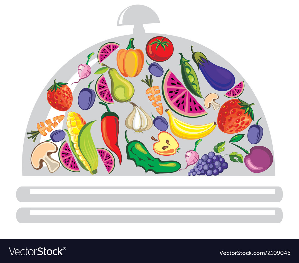 Vegetables and fruits vector | Price: 1 Credit (USD $1)