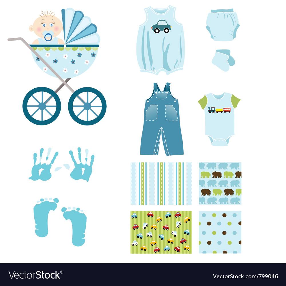 Baby boy elements vector | Price: 1 Credit (USD $1)