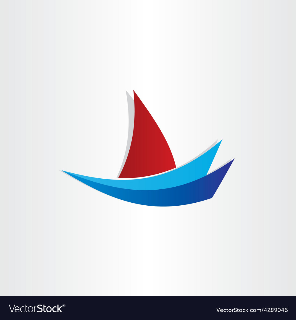 Boat on water stylized icon design vector | Price: 1 Credit (USD $1)